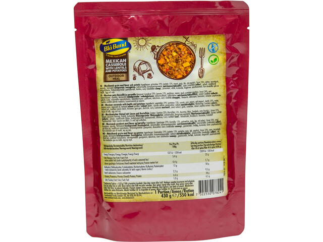 Bla Band Outdoor Meal 430g Mexican Casserrole with lentils and potatoes